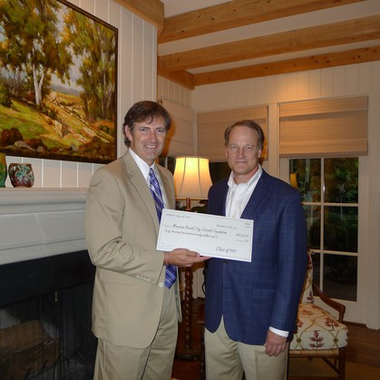 David Pittman delivers check to Vic Wilson!